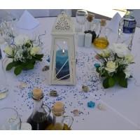 Декорация на ресторант в кралско синьо