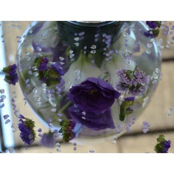 Ефирна декорация в стъкло с еустома