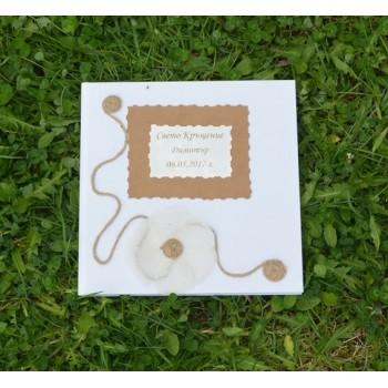 Книга за пожелания с естествени материали
