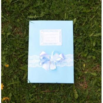 Папка за кръщелно в светло синьо