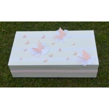 """Кутия за кръщене за момиче """"Пеперуди"""""""