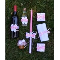 Комплект за момиче в розово и бяло