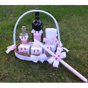 Комплект в розово с ангелче