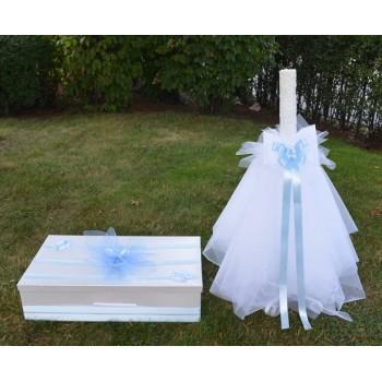 Свещ и кутия за кръщене