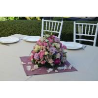 Декорация на ресторант за кръщене с рози