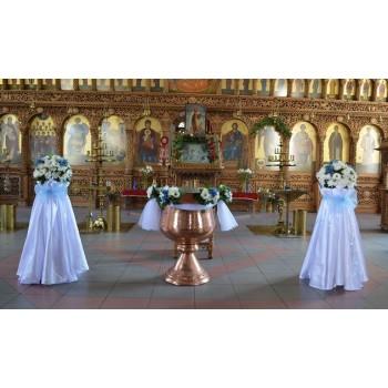 Украса на църква в синьо